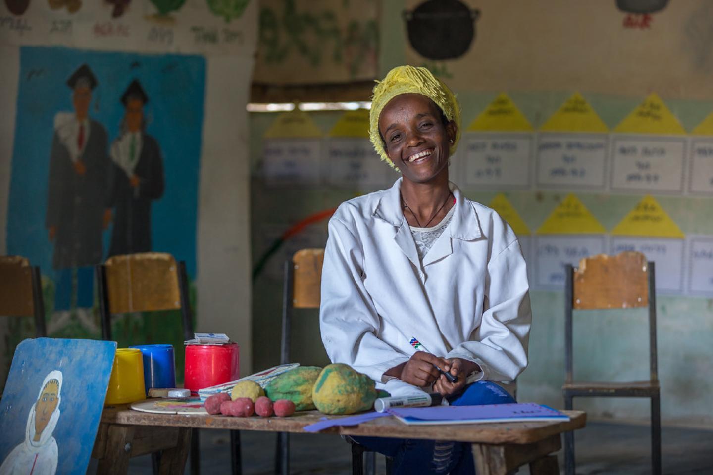 Tsadkan: the pre-school teacher who makes toys for children | UNICEF Ethiopia