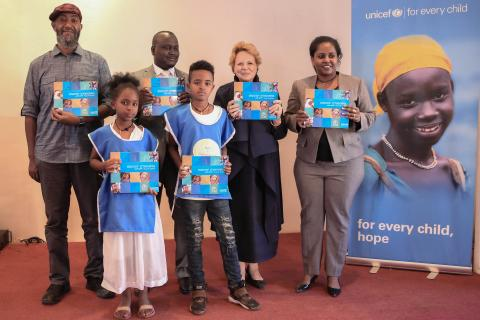 Celebration of 65th Anniversary of UNICEF in Ethiopia held in conjunction with go-back to school campaign, Assosa Benshangul Gumuz Regional State.