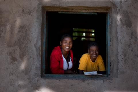 Zena (left) with her best friend since pre-primary, Genet Hailu, in West Guji Zone, Ethiopia. ©