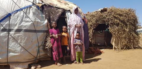 Fadumo Salah, 35, is a mother of four who has been living with her children in the Qoloji camp for the past two years.