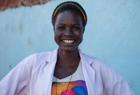 Nyawal John, a South Sudanese 17-year-old girl