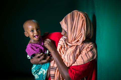 Two-year-old Dini Shaf is recovering well from severe acute malnutrition ©UNICEF Ethiopia/2018/Mulugeta Ayene
