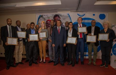 Development partners of VERA program with President of FDRE, Dr. Mulatu Teshome  at the first ever Civil Registration and Vital Statistics Day at Radison Blu Hotel, Addis Ababa. August 18, 2018
