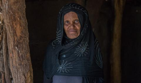 Aisa Kefina, 60 is an ex-circumciser who learned circumcision from her mother. Aisa has more than 10 grand daughters who are not circumcised. Chifra woreda, Afar region© UNICEF Ethiopia/2019/Tadesse