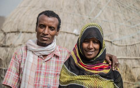 Ahmed Ali and Mariam Abdu were separated for a month because of Mariam's decision to take their daughter for circumcision. Chifra woreda, Afar region © UNICEF Ethiopia/2019/Tadesse