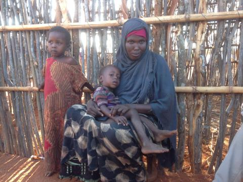 Salo Abdi (40), a mother of two young children who also takes care of her brother's daughter