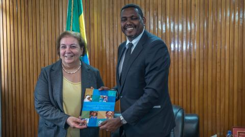 New UNICEF Representative in Ethiopia Ms. Adele Khodr presents credentials