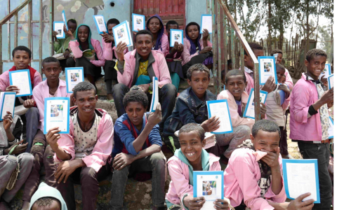 Students at Bira Primary School in Amhara Region, Ethiopia