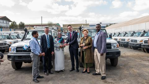 Germany and UNICEF hand over 30 vehicles to support mobile health and nutrition services
