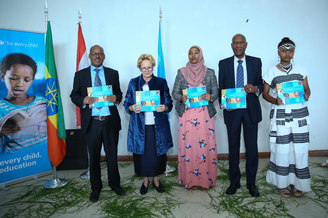 H.E  Teyba Hasen, Vice President of Oromia Region State and Ms Gillian Mellsop, Representative to UNICEF in Ethiopia celebrated UNICEF's 65th Anniversary Oromia Regional State,at Oromo Cultural Center.