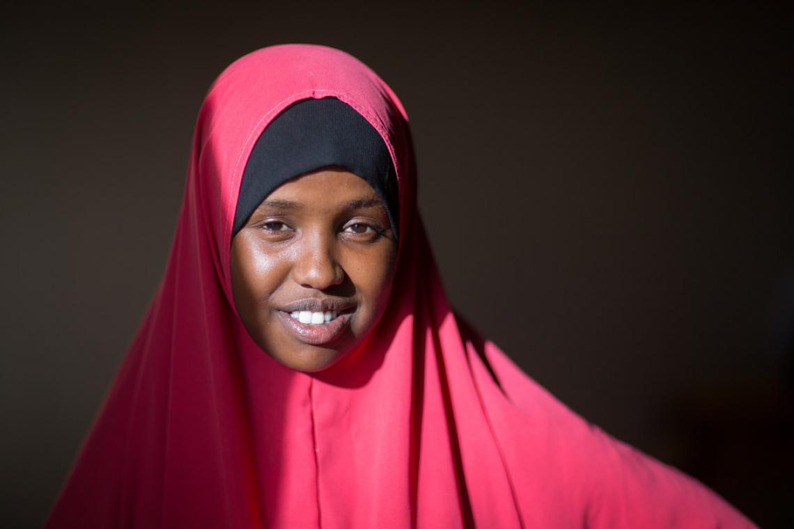 Eighteen-year-old Somali refugee student Sabirin Da'ud Hassan attends Grade 8 at the UNICEF supported Melkadida primary school for host community and refugee children.