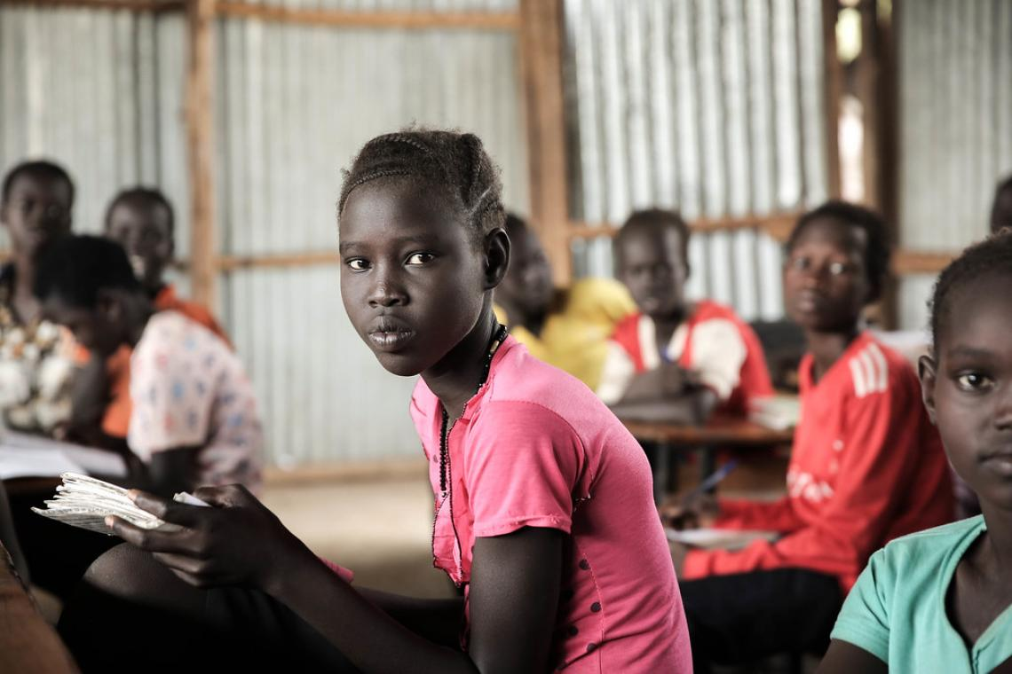 Nya Banytik Hoth, 14, grade 4, learns at Makod Primary and Secondary School in Tierkidi Refugee Camp, Gambella Region.