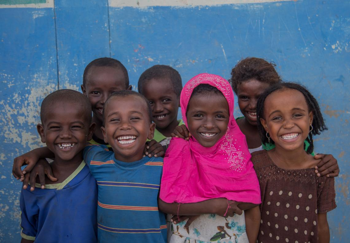 Children in Accelerated Readiness School programme in Afar