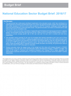 National Education Sector Budget Brief