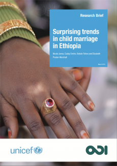 Surprising trends in child marriage in Ethiopia