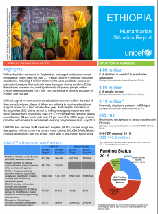Humanitarian Situation Report-July 2019 | UNICEF Ethiopia