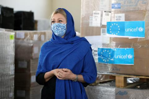 The European Commission Civil Protection and Humanitarian Aid Operations (ECHO) in collaboration with UNICEF, today flew in a shipment of over 26 metric tons of vaccines in support of the expanded programme on immunization, amidst the Covid 19 pandemic.