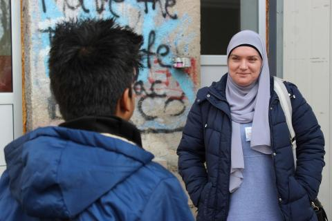 Lejla has acted as a guardian to approximately 400 unaccompanied refugee and migrant children in 2019.