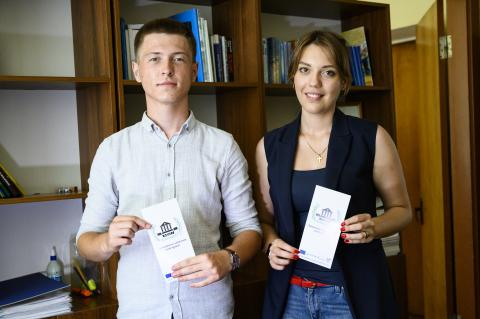 Young people participate in the legal aid clinic set up by three friends from Mariupol State University that aims to help people to rebuild their lives without being afraid of the financial implications.