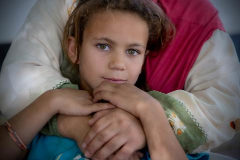 Syrian refugee girl in Jordan