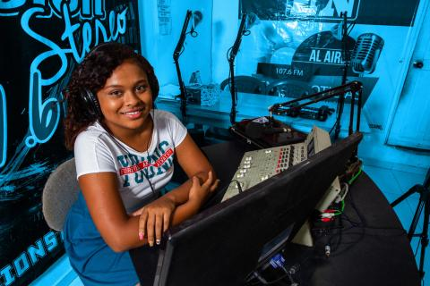 This 18-year-old law student, began to get interest in radio.
