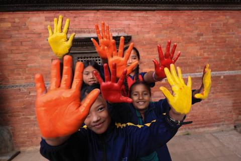 Children and young people participated in a fun-filled event celebrating the 30 years of the Convention on the Rights of the Child at Nepal
