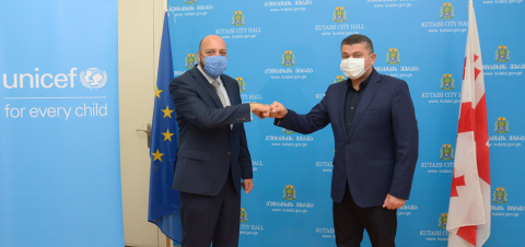 Signing Moe with Kutaisi municipality