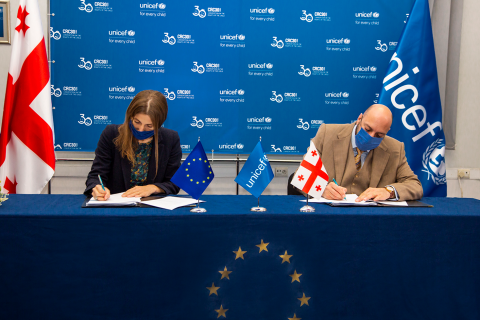 Signing of the joint project with EU