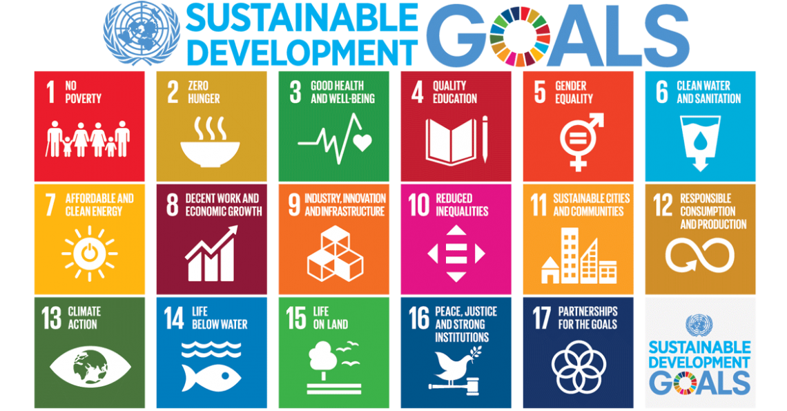 The Sustainable Development Goals are set of 17 goals and 169 targets agreed by all UN member states with the aim to achieve a better and more sustainable future for all by 2030.