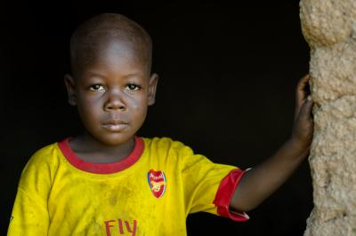 A young boy who approached the photographer and asked to have his photograph taken in the village of Tuya in the Northern Region of Ghana on 25 May 2015.