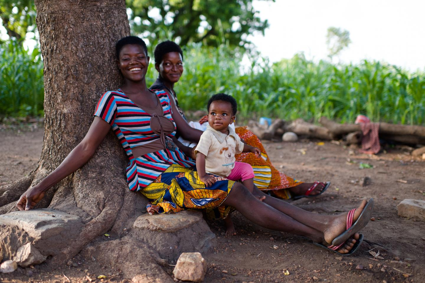 Lardi Asampana and her baby daughter, Bridget Asampana, in Bongo Soe in the Upper East Region of Ghana on 23 July 2015