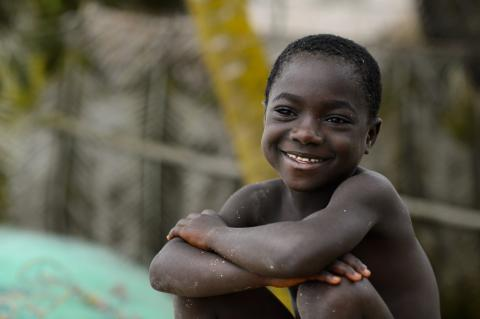 Adjoa Akyirie (8) in the coastal village of Ekumpoano in the Central Region of Ghana on 5 October 2012.