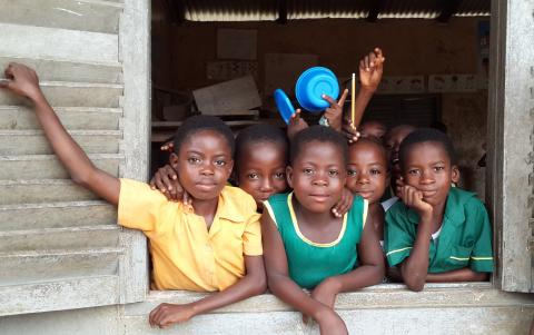 Pupils of AME Zion School in their classroom in the Central Region in Ghana on 23 Match 2015