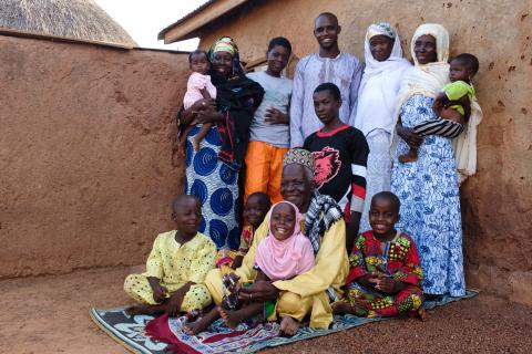 A family in the Northern Region of Ghana