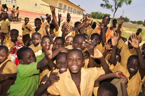 Students at a primary school in Kundunali in Tamale in the Northern Region of Ghana on 11 November 2015.