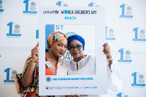 Second Lady of the Republic of Ghana and Gender Minister of Ghana pose for photo