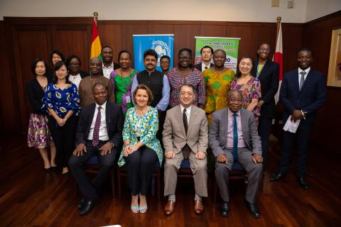 Officials from UNICEF and the Governments of japan and Ghana