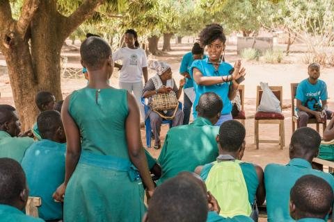 MzVee, UNICEF Influencer engages young girls and boys on menstrual hygiene management