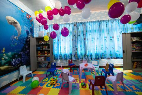 Colourful play-room for children