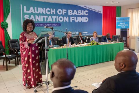 The Minister of Sanitation and Water Resources officially launches the basic sanitation fund