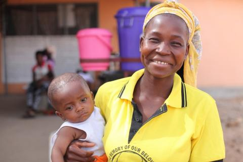 Aziriyen Alobinuruum, 22, recounts her childbirth experience and the shares the massive change the WASH facilities have brought