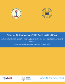 Special Guidance for Child Care Institutions