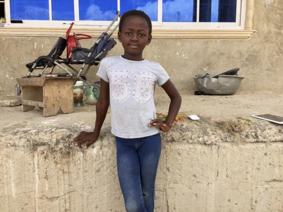 A young girl in Kumasi