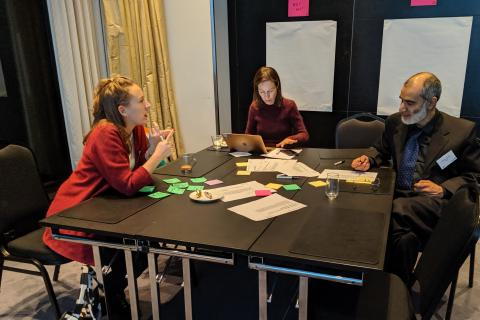 Workshop participants collaborating