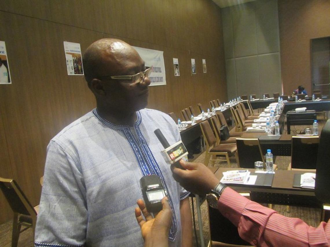 Dr Guy Yogo, Représentant a i de l'UNICEF en interview avec la presse