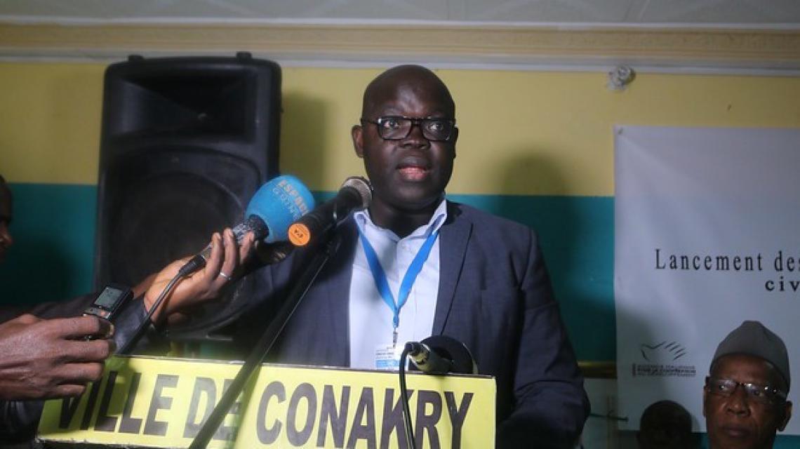 Les acteurs de l'état civil de la ville de Conakry outillés