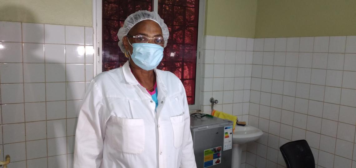 Mme Camara née Djénabou Mali Diallo Infirmière à l'INSE.