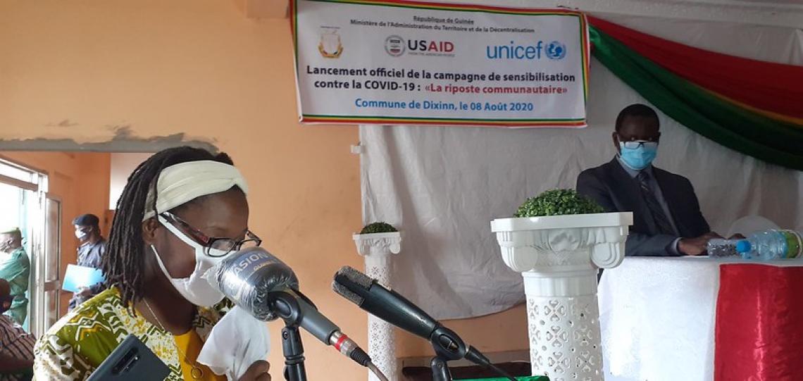 Izetta Minko-Moreau, la Directrice par intérim de la mission de l'USAID en Guinée