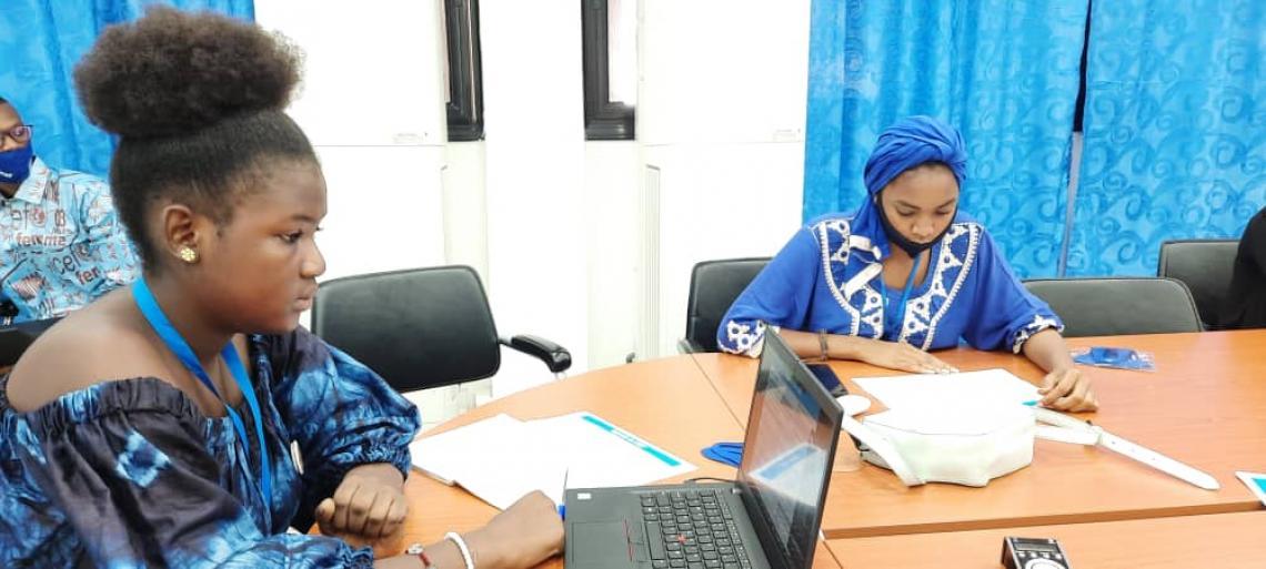 Le CMT en cours dans la salle de conférence de l'UNICEF