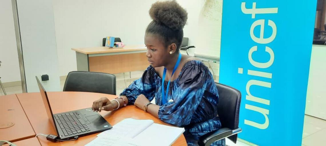 Hadja Fatimatou Bintou Barry, 15 ans, Représentante de l'UNICEF